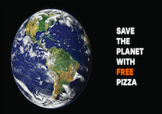 Why saving the planet with Free Pizza is the modern way of upselling
